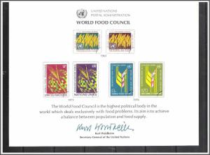 UN New York #SC10 Food Council Souvenir Card