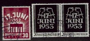 Berlin Germany SC#9N99-9N100 Used VF SCV$29.00...Worth a Close Look!