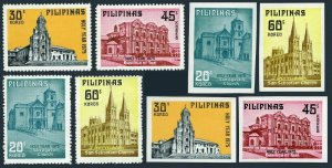 Philippines 1281-1284 & imperf,MNH. Churches:San Agustin,Morong,Basilica of Taal