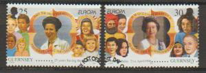 Guernsey SG 694- 695 VFU with First Day cancel