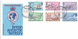 British Antarctic Territory Scott 76-81 Unaddressed.