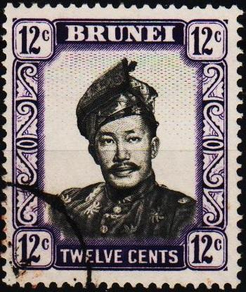 Brunei. 1952 12c. S.G.125 Fine Used