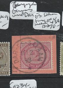 GERMAN EAST AFRICA (P1601B) FORERUNNER GERMANY FROM DAR ES SALAAM MI43A VFU