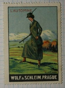 L'Automne Wolf & Schlem Prague Womens Fashion WW Brand Poster Stamp Ads