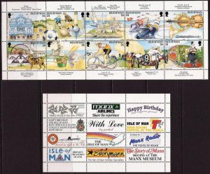 Isle of Man 1994,Tourism , MNH booklet pane+label   # 586a