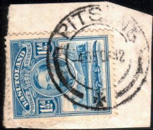 BASUTOLAND 1942 GVI 1½d on piece PITSENG cds...............................51638