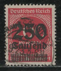 Germany Reich Scott # 256, used, exp h/s