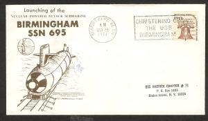 UNITED STATES Birmingham ssn 695 launching event cover