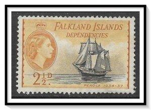 Falkland Islands Dependencies #1L23 QE II & Ships NG