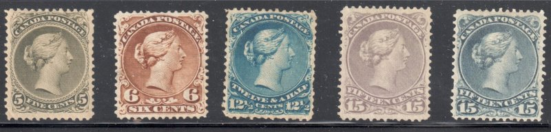 Canada #21 to 30 VF-XF MINT LARGE QUEEN SET C$13,650.00 ++++