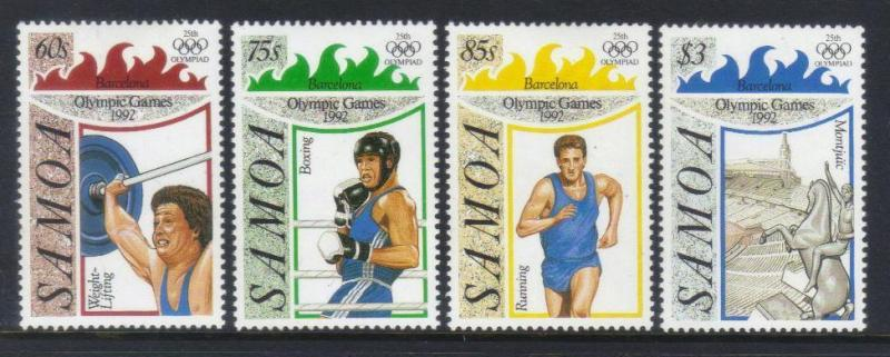 SAMOA 1992 OLYMPIC GAMES MH SET OF 4