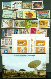 EDW1949SELL : GAMBIA Beautiful collection of ALL DIFF, VF MNH CPLT SETS & S/S