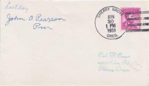 United States Oregon Cherry Grove 1959 4f-bar  1912-1959  Philatelic.