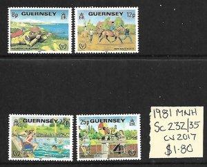 Guernsey MNH 230-5 Sports 1981 SCV 1.60