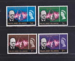 Falkland Islands 158-161 Set MH Winston Churchill, Politician