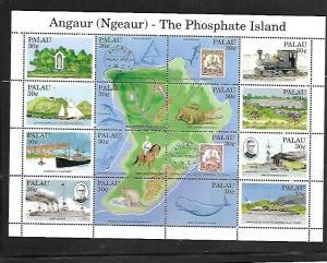 PALAU, 263, MNH, SS, SHEET OF 16, PHOSPHATE ISLAND