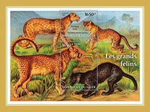NIGER - 2021 - Big Cats - Perf Souv Sheet -Mint Never Hinged