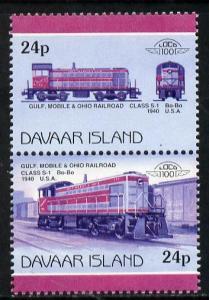 Davaar Island 1983 Locomotives #2 Gulf, Mobile & Ohio...