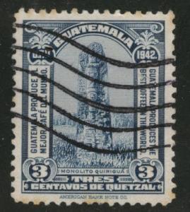 Guatemala Scott 303 used 1942  stamp