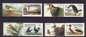 Barbuda-Sc.#706//711-Unused NH 1/2 set-id6-Birds-Audubon-1985-86-