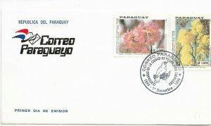 PARAGUAY 1999 FDC FLOWERS BIRDS CIUDAD PEDRO JUAN CABALLERO NATURE FDC