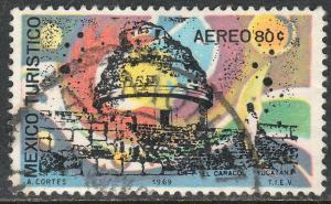 MEXICO C356, TOURISM PROMOTION, EL CARACOL, CHICHEN-ITZA. USED (1259)