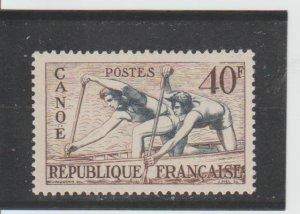 France  Scott#  703  MH  (1953 Canoe Racing)