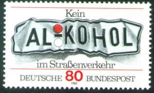 Germany Scott 1376  Mint No Gum MNG 1982 Don't Drink Drive