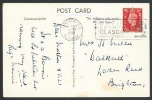 GB 1938 postcard Empire Exhibition cancel, Clachan PO view.................52959