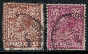 Great Britain #194-5  CV $5.75