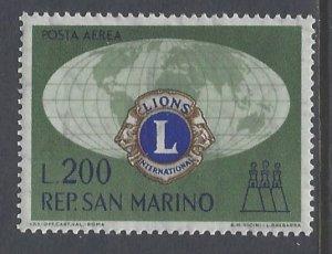 San Marino, Scott #C115; 200l Lions Intl, MH