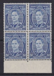APD189) Australia 1940 3d Deep blue die III perf 15 x 14 ACSC 195