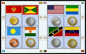 United Nations - New York Scott 1078 (2013) Flags & Coins, Mint NH VF C