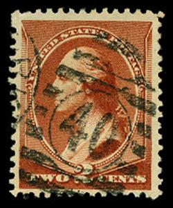 U.S. BANKNOTE CANCELS 210  Used (ID # 61015)