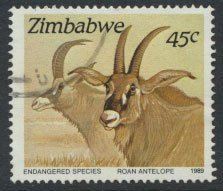 Zimbabwe SG 767  SC# 599  Used Endangered Species see detail and scan