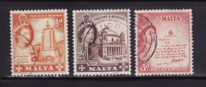 Malta 247, 250, 252 U Queen Elizabeth II (B)