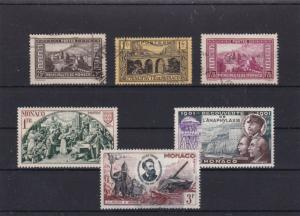 MONACO MOUNTED MINT AND USED STAMPS ON STOCK CARD REF 1065