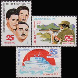 CUBA 1981 - Scott# 2454-6 Events Set of 3 NH