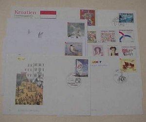 CROATIA 10 DIFF. FDC 1991-2006 CACHET UNADDRESSED