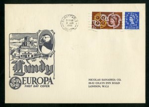 Lundy Islands Stamps First Day Cover 1961 Europa