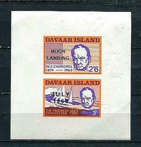 Great Britain Regional iss Davaar Island Ovpr Sir W Churchill & Chichester 10654