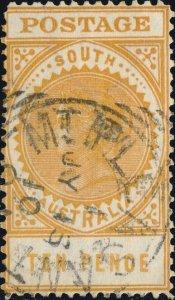 SOUTH AUSTRALIA - 1910 Mt PLEASANT / SA squared CDS on SG287