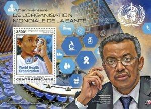 Central Africa - 2018 World Health Org - Souvenir Sheet - CA18404b
