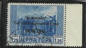 MONTENEGRO TEDESCA  CETTIGNE 1943 SERTO DELLA MONTAGNA SOPRASTAMPATO SURCHRGE...