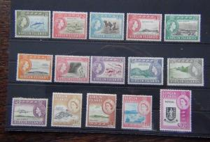 British Virgin Islands 1964 -1968 set complete to $2.80 MNH SG178 - SG192