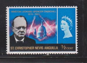 ST CHRISTOPHER NEVIS & ANGUILLA Scott # 167 MNH Winston Churchill