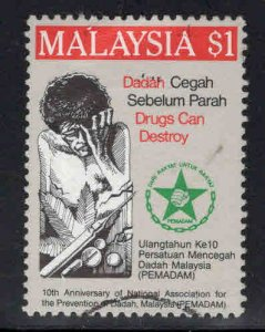 Malaysia Scott 395 Used Drug Addiction stamp