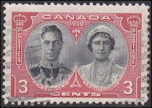 Canada Scott 248 George VI and Elizabeth Used
