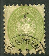 Lombardy-Venetia # 21, Used. CV $ 52.00