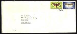 NORFOLK IS 1980 35c rate cover to New Zealand.............................95611A